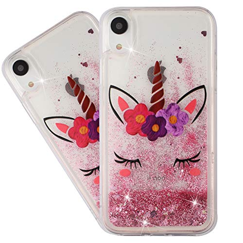 HMTECHUS iPhone XR 2018 Case Glitter Liquid Sparkle Floating Shiny Quicksand Clear Soft TPU Silicone Shockproof…