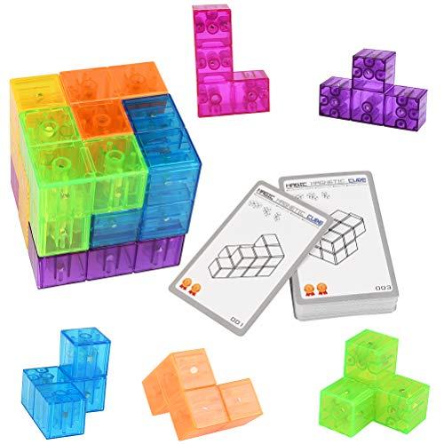 YOTINO Cubo de Velocidad Paquete Cubo de Set Fácil Montaje Desmontable, Color 3x3x3 Cube Juguetes Educativos, Cubo Rompecabezas Velocidad, Regalos Infantiles Cubo Magico