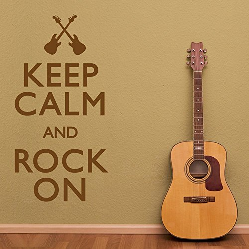 "Wandtattoo \""Keep Calm And Rock On\"", Vinyl, Schwarz (0105), 60 x 110 cm"