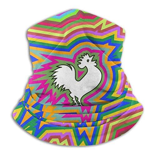 Rainbow Art Cock Neck Gaiter Warmer Face Coupe-ventbouclier Écharpe Magic Balaclava Sports de Plein air