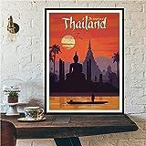 zxddzl European World City Tour Travel Scenery Retro Landscape Poster Prints Mural Art Canvas