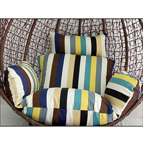 BLSTY Outdoor-hangstoel zitkussen, wasbaar hangmand, rugkussen voor hangende ei-stoel 136x134Cm(54x53Zoll) As.