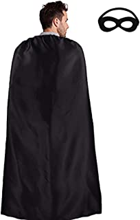 Superhero Cape for Adult with Mask Men Women Super Hero Party