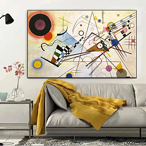 JLFDHR Lienzo decorativo para pared, 50 x 70 cm, sin marco, línea abstracta de composición para salón con imágenes, decoración del hogar