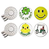 GOLTERS Golf Ball Markers with Hat Clips Value Sets for Men Women Golfer, Removable Attaches Easily to Golf Cap Premium Gifts (Composited 02)