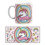 Kembilove Taza de Desayuno Personalizada de Unicornio con Nombre – Tazas Unicornio con Frases Divertidas y Motivadoras - Regalo Original Personalizado Diferentes Modelos de Unicornio 5 Cerámica