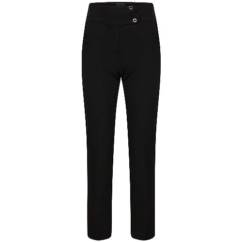 fad5753ddcf615 Ladies Slim Fit Bi-Stretch Plain Trousers Smart Look Office School Work  Pants