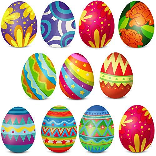 20 Hojas Pegatinas de Huevo de Pascua de Decoración Calcomanías de Pared de Pascua Pegatinas de Feliz Pascua de Manualidades de Papel Colorido para Decoración Fiesta de Pascua