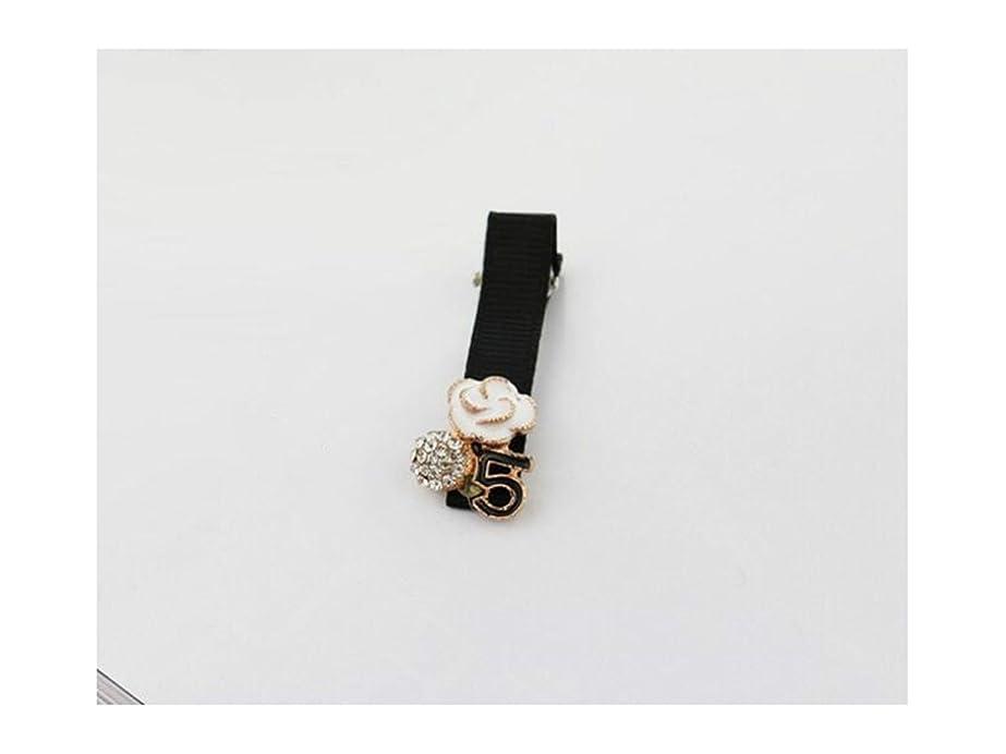 レーザ雪腹部Osize 美しいスタイル シンプルなバングズクリップサイドクリップヘアピンダックビルクリップ女性のヘアアクセサリー(フラワー+ 5)
