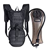 Unigear Tactical Hydration Pack Backpack 900D with 2.5L Bladder for Hiking, Biking, Running, Walking and Climbing (Black Camo)