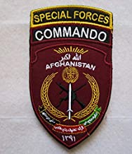 Special Forces Commando Afghanistan 3D Tactical Military Badges Embroidered Patch Back with Loops and Hook