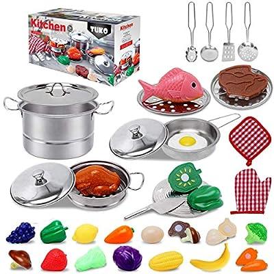 Tuko Pretend Kitchen Toys for 3+ Years Old Boy and Girl Gift by Tuko