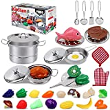 Tuko Toy Kitchen Pretend Food Play Set for 3-12 Years Old Boys and Girls