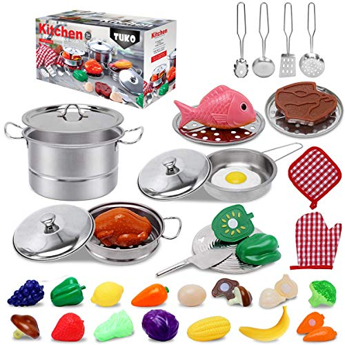 Tuko Pretend Kitchen Toys for 3+ Years Old Boy and Girl Gift (Kitchen Playset)