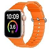 cinturino in silicone compatibile con apple watch serie se/6/5/4/3, cinturino sportivo per iwatch, 38 mm, 40 mm, 42 mm, 44 mm, de81025 (38 mm, 40 mm, 9)