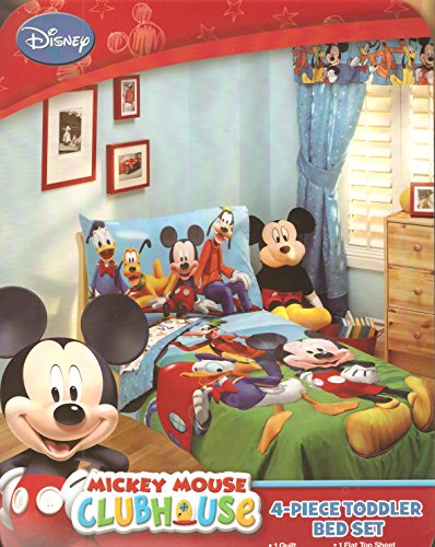 Disney Mickey Mouse Playground Pals 4-piece Toddler Bedding Set by disney