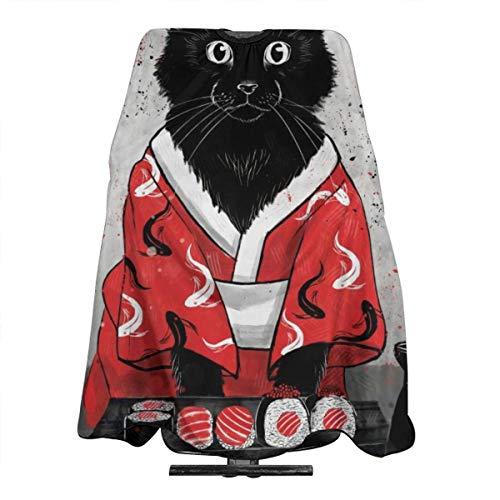 Barber Cape Hair Styling Corte Corte De Pelo Delantales Sushi Kimonos Cat Japan Food Capes For Proof Peluquería Colorante Perming Shampoo Chemical