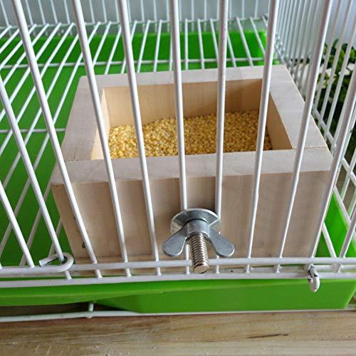 wosume Tiernahrungsschüssel, kleines Tierhaus, montierbare Futterschale für Tierhamster-Papageienschale