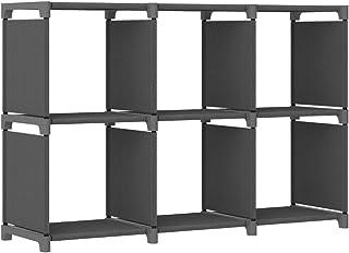 vidaXL Etagère d'Affichage 6 Cubes Bibliothèque Etagère de Rangement Organisateur Support de Rangement Maison Intérieur Gr...
