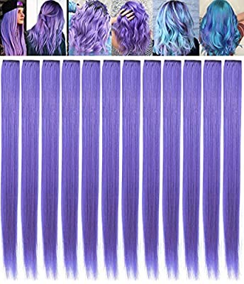 SARARHY Fashion Hair Accessories Clip in/On Rainbow Wig Pieces for Amercian Girls and Dolls Colored Hair Extension Party Highlight Multiple Colors Hairpieces