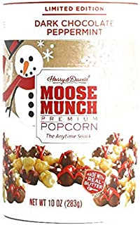 Harry & David Dark Chocolate Peppermint Moose Munch Popcorn 10 oz each (1 Item Per Order, not per case)