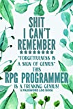 Rpg Programmer Password Log Book: Rpg Programmer Gift │ Funny Sweary Personalized Gag Gift for Work Coworker Boss Birthday Christmas │ Alphabetical Pocket Organizer Contacts Notes