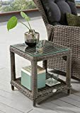 Destiny Loungetisch Merano Tisch Polyrattan Beistelltisch Kaffeetisch 50 x 46 cm - Ohne Sessel -