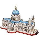 CubicFun Puzzle 3D Londres St.Paul's Cathedral Rompecabezas 3D Arquitectura Iglesia Reino Unido Modelo de Construcción Kits para Adultos Regalos, Catedral de San Pablo 643 Piezas