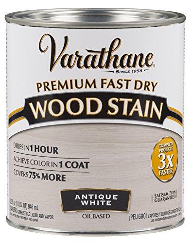 Varathane 297424 Premium Fast Dry Wood Stain, Quart, Antique White