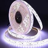 H/A SADSDM Parche de ultra alto brillo 2835 12 V 72 W 660 LEDS blanco cálido monocromático atenuación tira de luz LED 5 M impermeable IP65 IP20 SADSDM (color: blanco frío, tamaño: 5 m no impermeable)