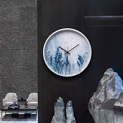 Reloj de pared – Resina/Metal Puntero/Personalidad/Home/Reloj, Moda Reloj de pared Salón Dormitorio Creativo Reloj de pared Reloj de pared (38 x 38 cm) Mereces tener