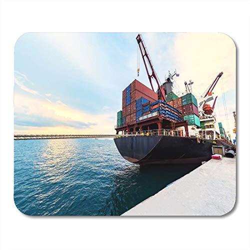FETEAM Alfombrillas para ratón Tariff Container Ship Buques comerciales Junto en el Puerto Alfombrilla para ratón para portátiles Alfombrillas para Ordenadores de sobremesa Material de Oficina