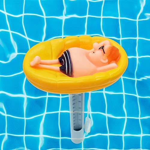 Easy-topbuy Schwimmende Poolthermometer Niedliche Lustige Form Große Größe Langlebiges Thermometer Mit Schnur Für Schwimmbäder Whirlpool Spa