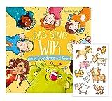 Buchspielbox Das sind WIR. Meine Freundinnen und Freunde + Kindersticker, Freundebuch ab 3 Jahren