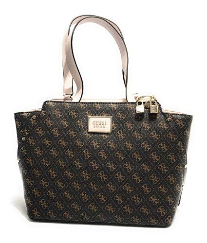 Guess Borsa shopping Tyren girlfriend carryall 3 comparti brown/stone BS21GU06 SG796623