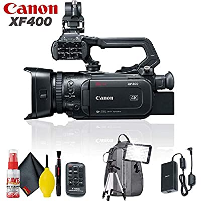 Canon XF400 UHD 4K60 Camcorder with Dual-Pixel Autofocus Standard Accessory Kit by Canon