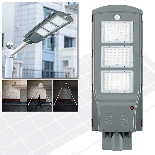 NAIZY Solar Straßenlampe 60W LED Bewegungsmelder Light Wasserdicht für Im Freien Straßenbeleuchtung Außenparkplatz - 60W Kaltweiß