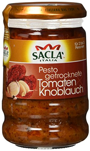 Sacla Tomaten Knoblauch, 6er Pack (6 x 190 g)