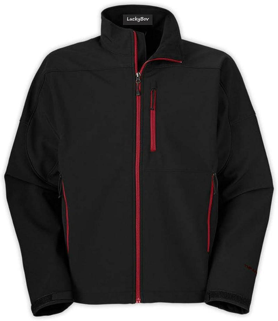 LuckyBov Men Spring Classic Fleece Jacket Outdoor Stylish Sport Coat with Colored Zipper