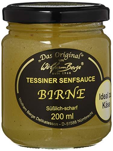 Wolfram Berge Original Tessiner Ingwer-Senfsauce, Feinkostsauce aus püriertem kandiertem Ingwer mit fein-scharfem Senfgeschmack. Hergestellt im Schweizer Tessin. 3er Pack (3 x 200 ml)