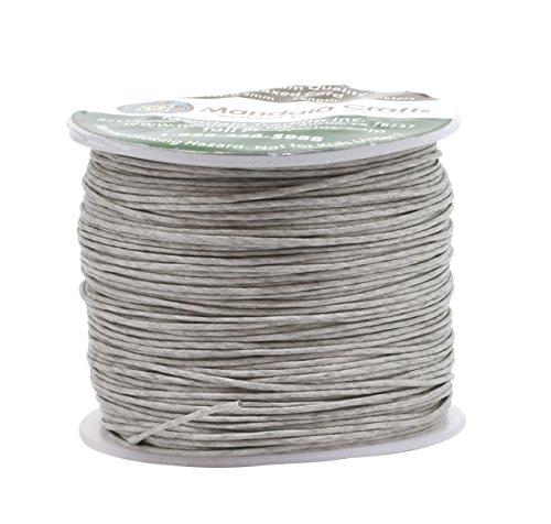 Mandala Crafts, hilo de algodón encerado, 0,5mm, 100 metros, para creación de joyas, artesanía, cuentas, macramé