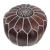 ALMADIH Pouf 100% tradizionale mano in pelle Pouff sacco...