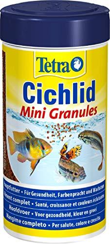 Tetra Cichlid Mini Granules (Hauptfutter Mix für kleine Cichliden, 2 verschiedene Mini-Granulate), 250 ml Dose