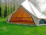 100% Toile de coton 5metre Tente de Bell avec fermeture Éclair en Tapis de sol par Bell Tente Village
