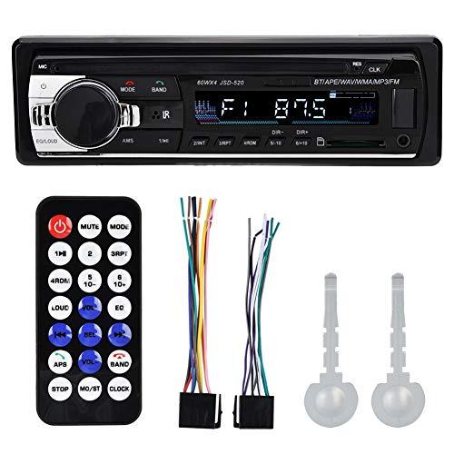Zerone 4 × 60 W Radio de Voiture stéréo Bluetooth Lecteur MP5 Unique DIN Dual USB Mains Libres stéréo de Voiture Support MP3/MP5/USB Écran LCD avec télécommande