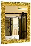 GaviaStore - Julie - Espejo de Pared Moderno en 12 tamaños y Colores - Grande Muebles hogar decoración Salon Modern Dormitorio baño Entrada (Gold, 70x50 cm)
