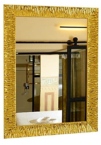 GaviaStore - Julie Gold 70x50 cm - Espejo de Pared Moderno (18 tamaños y Colores) Grande Muebles hogar decoración Salon Modern Dormitorio baño Entrada