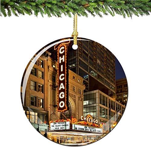 Bernice Winifred Carpa de Adorno navideño de Chicago, Porcelana, Adornos navideños de Doble Cara de 2,75 Pulgadas