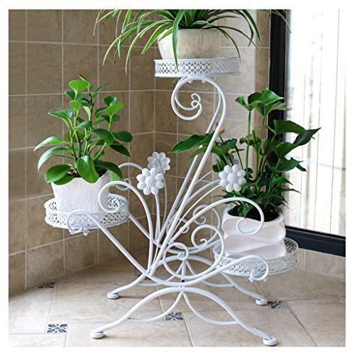 Étagère Xuan - Worth Having à Fleurs Multi-étages Espace intérieur Fer forgé Balcon Salon Suspendu orchidée Vert Support de Pot (Couleur : Blanc)