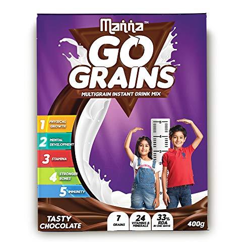Manna Go Grains - MultigrainDrink Mix - 400g Pack (Chocolate Flavour)